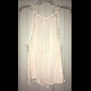 Cream tank top with lace!